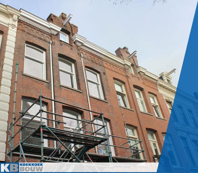 Deze verbouwing aan een historisch Amsterdams pand aan de Vondelstraat is uitgevoerd door Koekkoek bouw.
